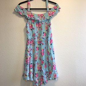 Blue Floral Justice Dress
